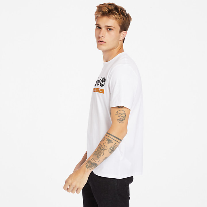 T-shirt Established 1973 pour homme en blanc-