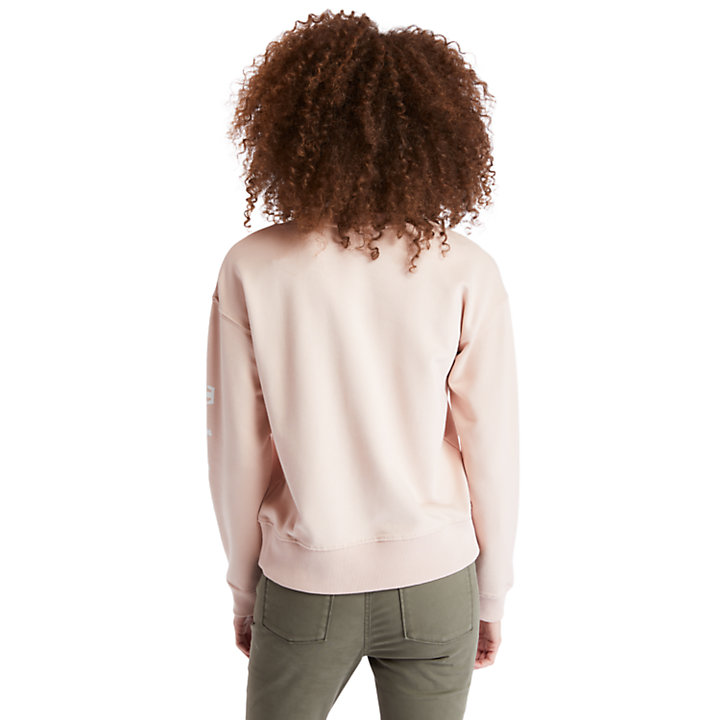 Sleeve Logo Sweatshirt for Women in Pink-