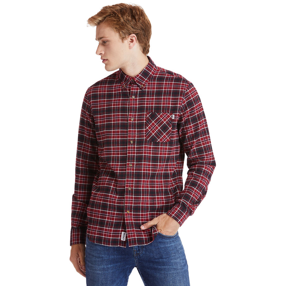 Timberland Mascoma River Tartan Shirt For Men In Red Red, Size XXL