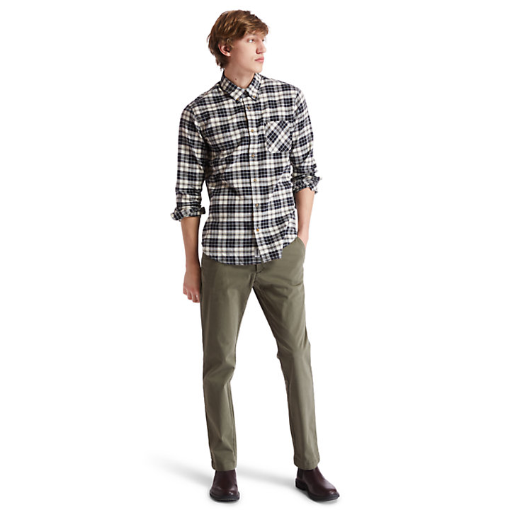 Mascoma River Tartan Shirt for Men in Beige-