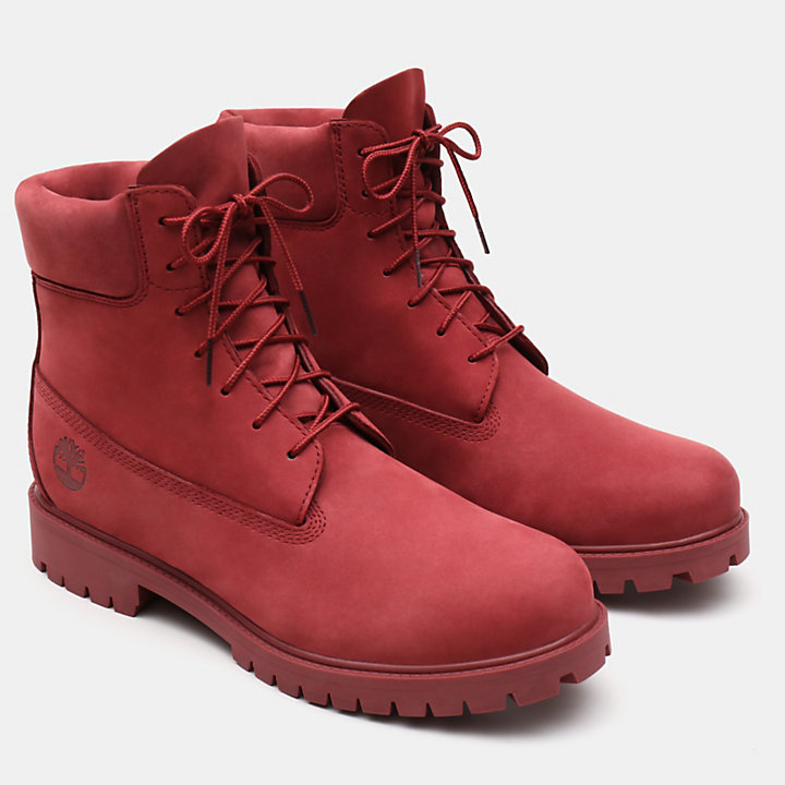 Premium 6 Inch Heritage Boot for Men in Red-