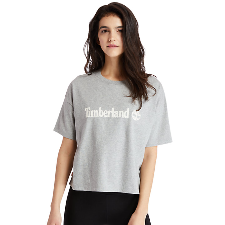 Cropped T-Shirt for Women in Grey-