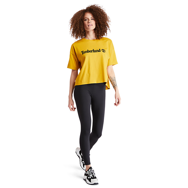 Cropped T-Shirt for Women in Yellow-