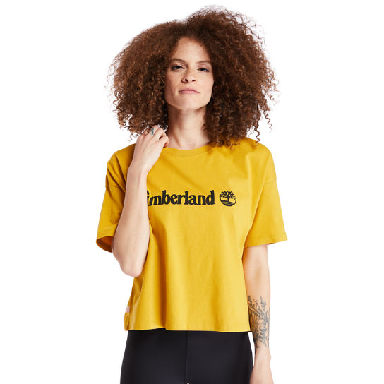 Cropped T-Shirt for Women in Yellow | Timberland