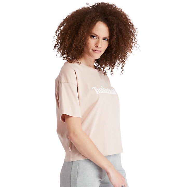 Cropped T-Shirt for Women in Pink-