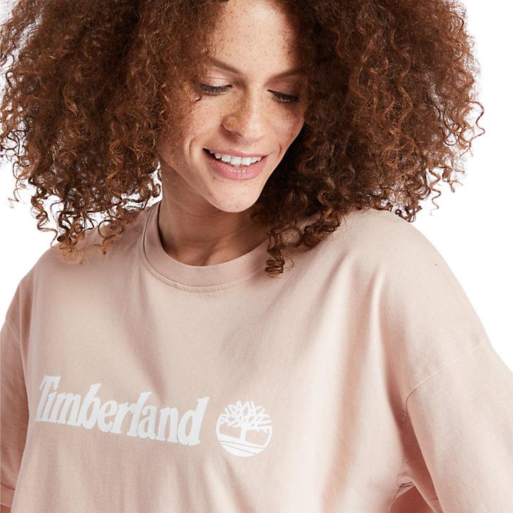 T-shirt court pour femme en rose-