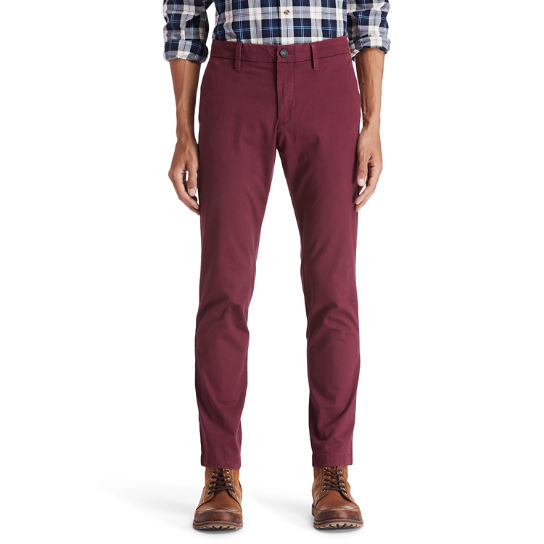 Sargent Lake Chinos for Men in Burgundy | Timberland