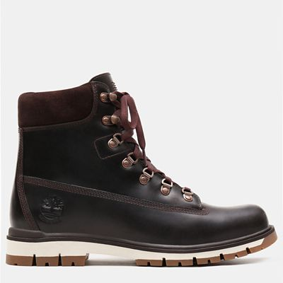 Radford+6+Inch+D-Rings+Boot+for+Men+in+Dark+Brown