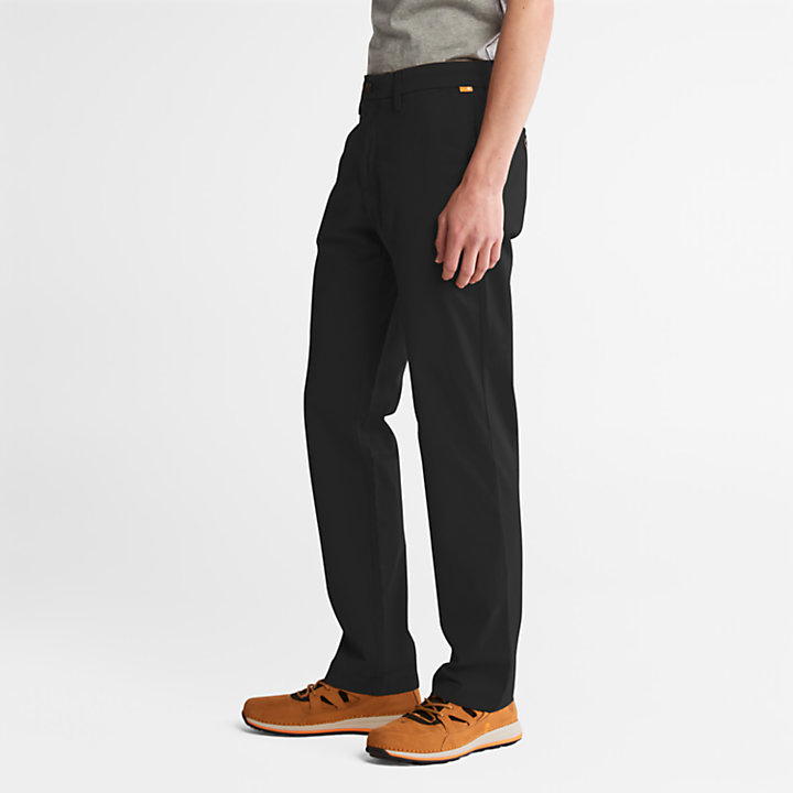 Pantaloni Chino da Uomo in Twill Squam Lake in colore nero-