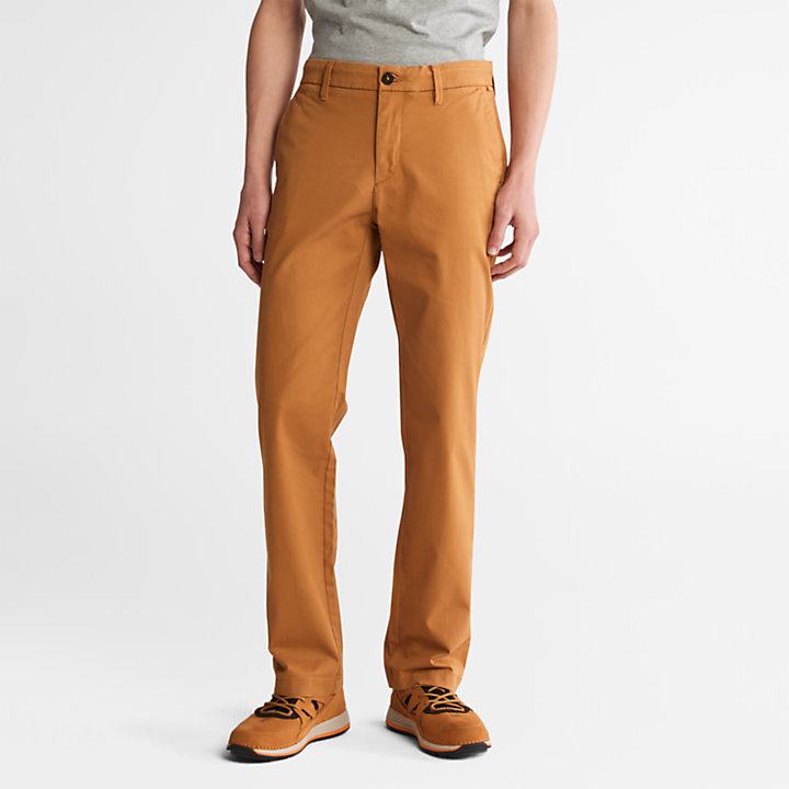 Squam Lake Twill Chino Pants for Men in Yellow-