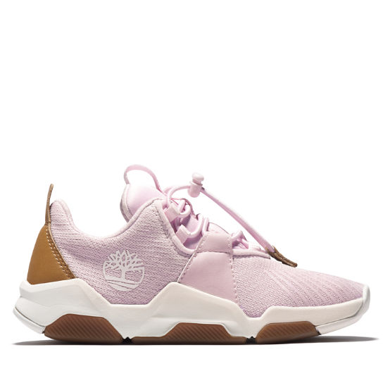Basket Earth Rally pour enfant en rose | Timberland