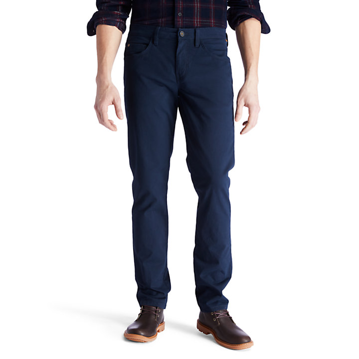 Sargent Lake Twill Trousers for Men in Navy-