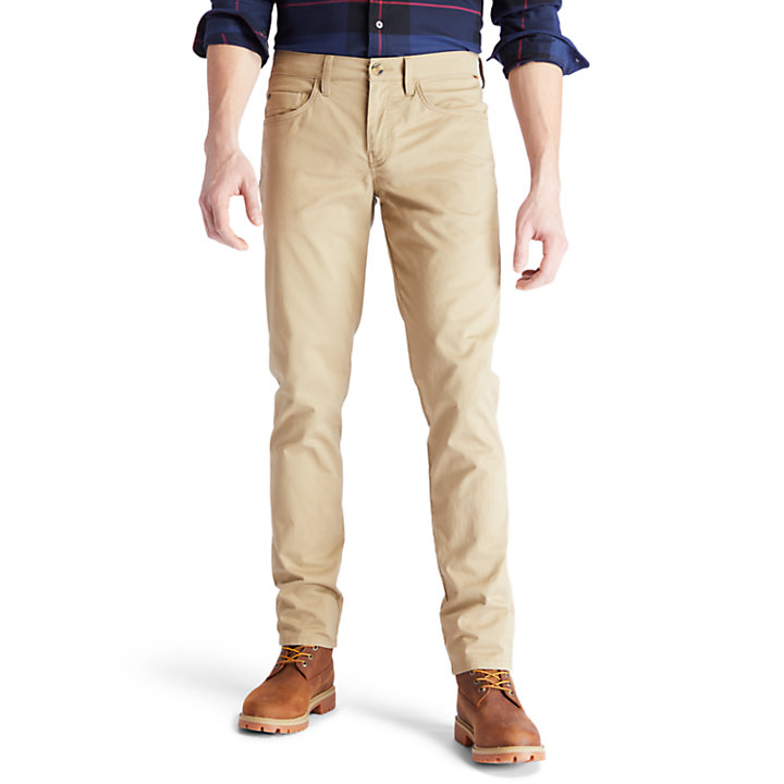 Sargent Lake Twill Trousers for Men in Khaki-