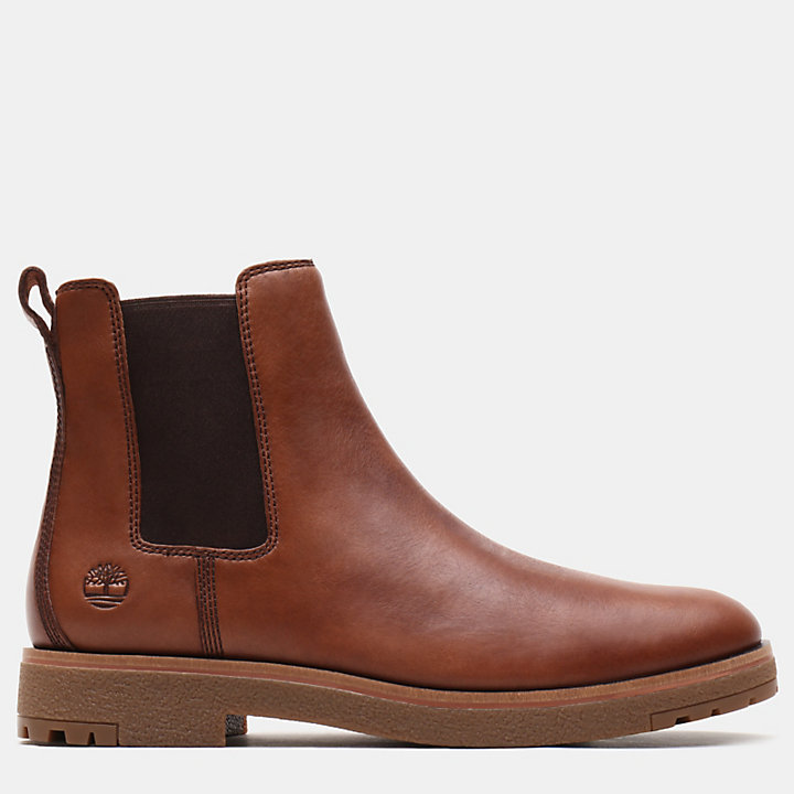 Folk Gentleman Chelsea Boot for Men in Brown-