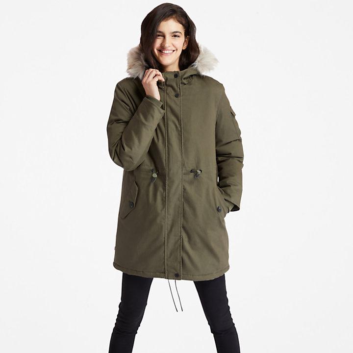 Mount Kelsey Fleece-lined Parka for Women in Green-