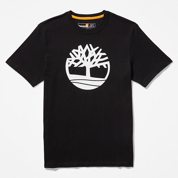 Kennebec River Tree Logo T-shirt for Men in Black-