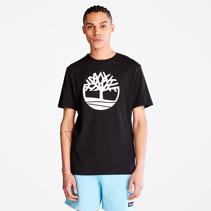 Camiseta con Logotipo del Árbol Kennebec River para Hombre en color negro-
