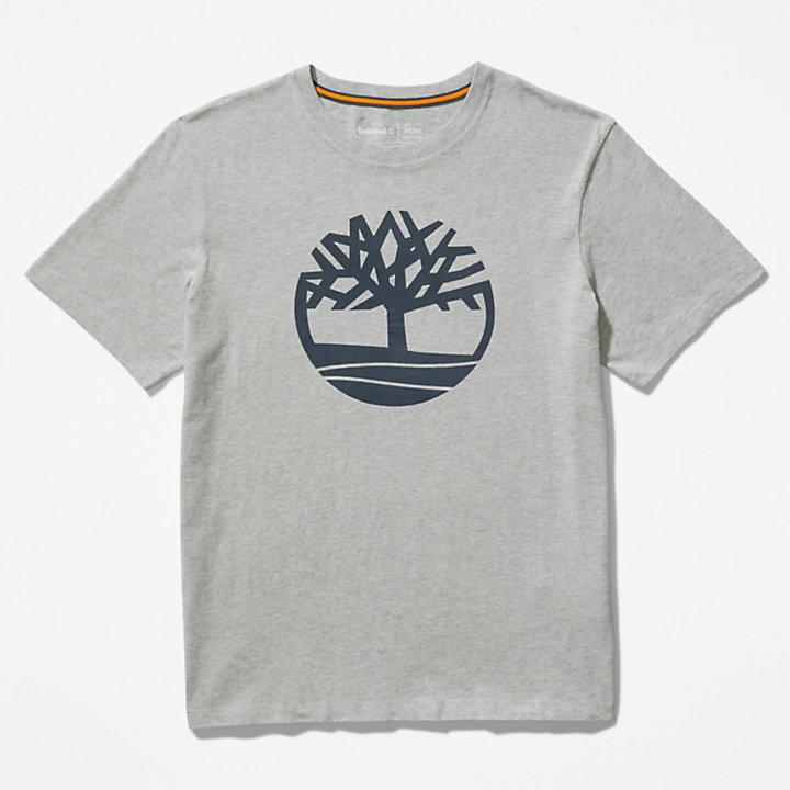 Kennebec River Tree Logo T-shirt for Men in Grey-