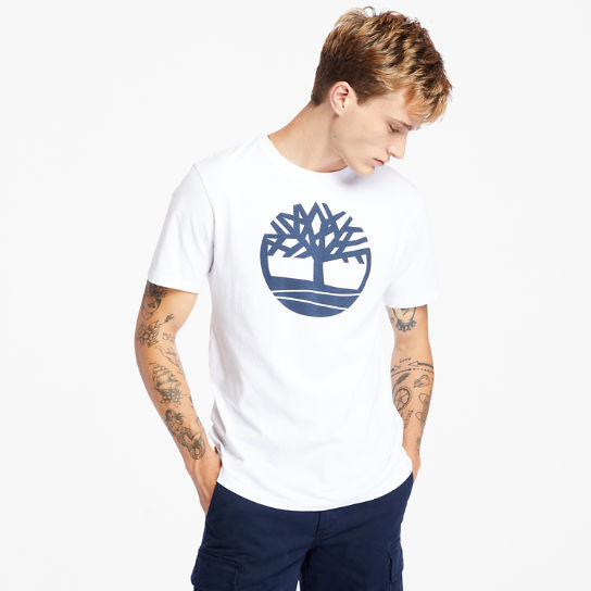 Kennebec River Tree Logo T-shirt for Men in White | Timberland