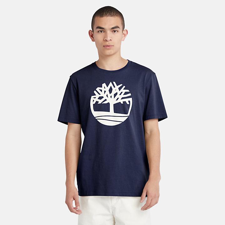 Camiseta con Logotipo del Árbol Kennebec River para Hombre en azul marino-