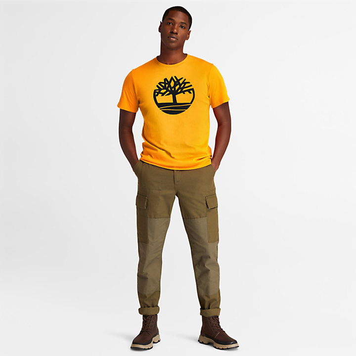 Kennebec River T-shirt met Boomlogo voor heren in oranje-