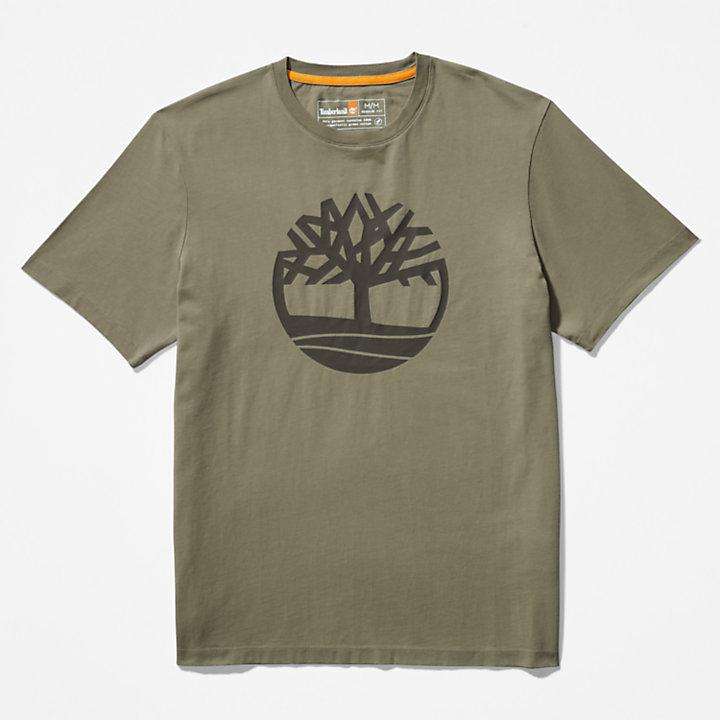T-shirt Kennebec River à logo arbre pour homme en vert foncé-