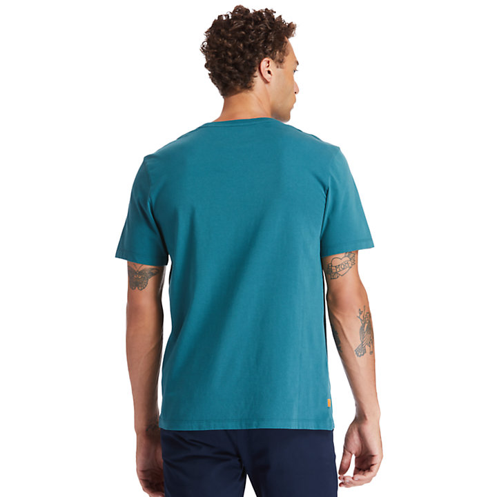 Kennebec River Tree Logo T-shirt for Men in Green-