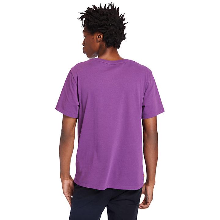 Kennebec River Tree Logo T-shirt for Men in Purple-