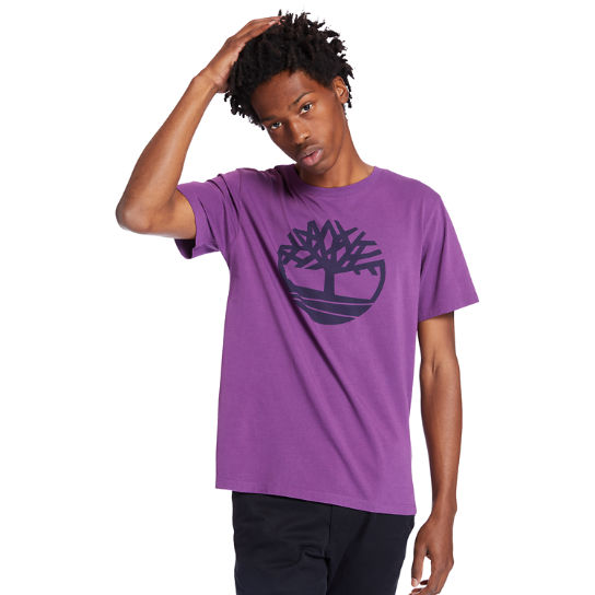 Kennebec River Tree Logo T-shirt for Men in Purple | Timberland