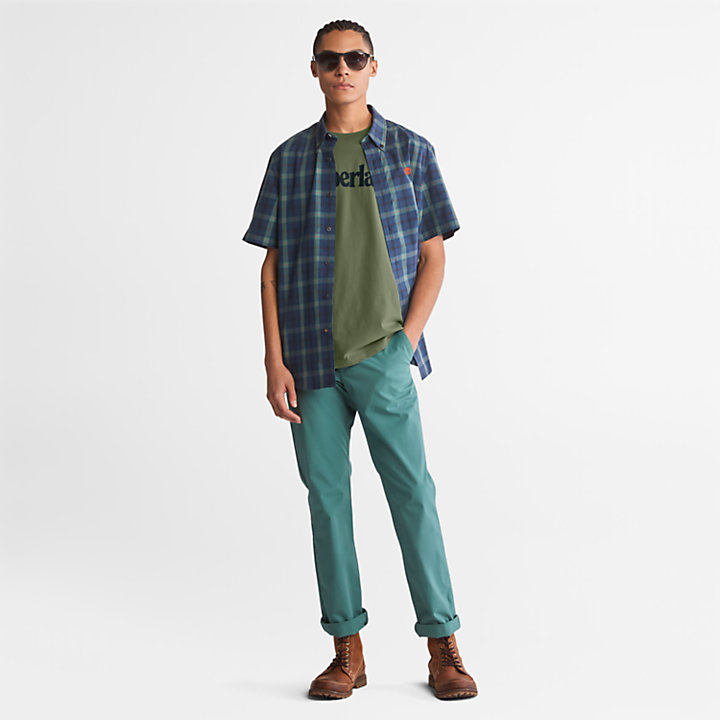 Kennebec River Logo T-Shirt for Men in Dark Green-