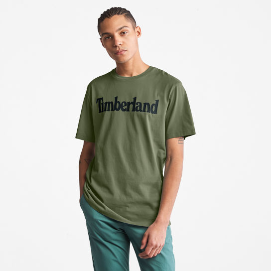 Kennebec River Logo T-Shirt for Men in Dark Green | Timberland