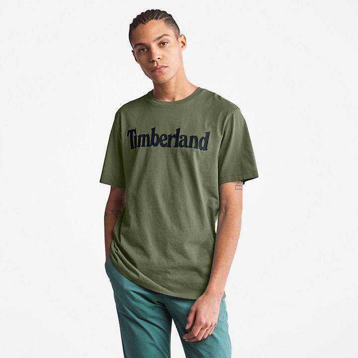 Kennebec River T-Shirt für Herren mit Logo in Dunkelgrün-
