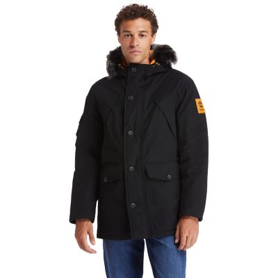 Scar+Ridge+Down-free+Parka+for+Men+in+Black