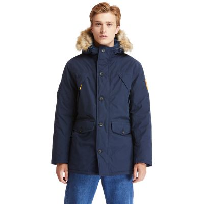 Scar+Ridge+Down-free+Parka+voor+Heren+in+marineblauw