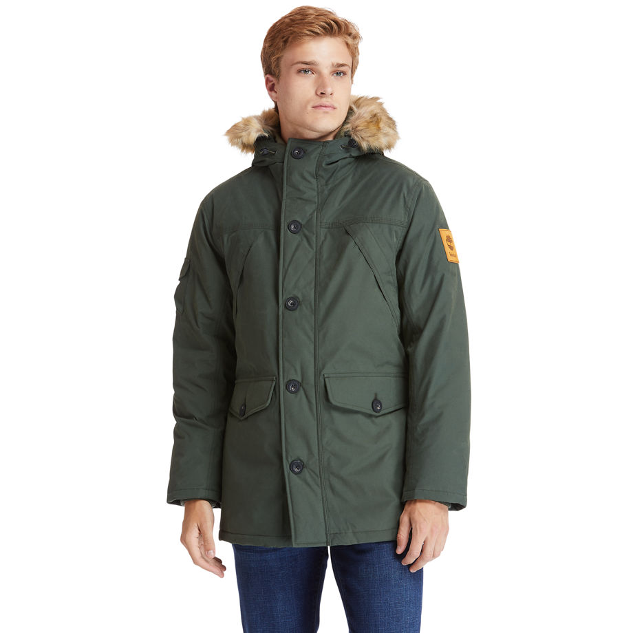 Timberland Scar Ridge Down-free Parka For Men In Green Green, Size 3XL