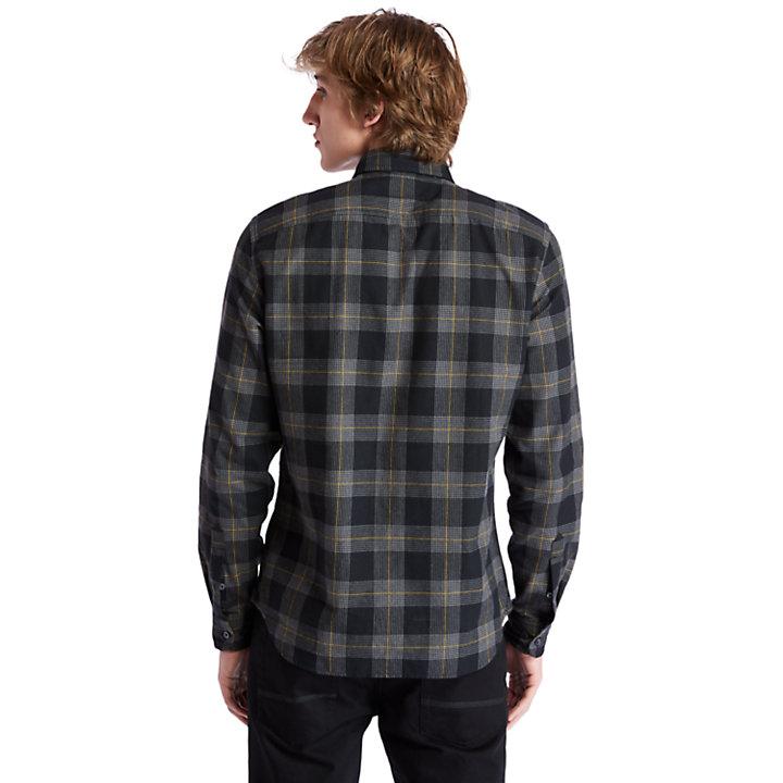 Back River Hemd mit Hahentrittmuster für Herren in Schwarz-