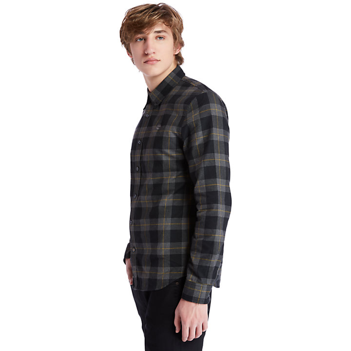Back River Houndstooth Check Shirt for Men in Black-