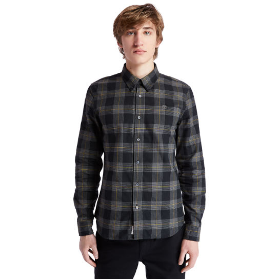 Back River Houndstooth Check Shirt for Men in Black | Timberland