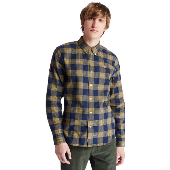 Back River Houndstooth Check Shirt for Men in Navy | Timberland