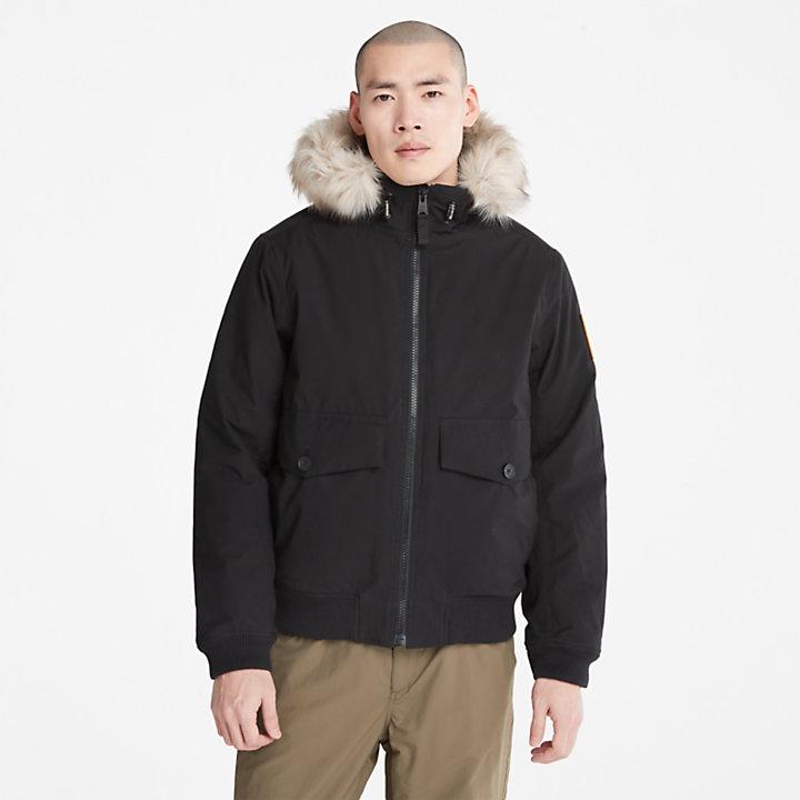 Boundary Peak Waterproof Snorkel Jacket for Men in Black-