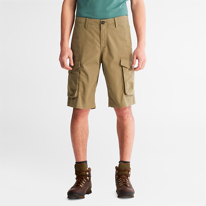 Heritage Cargo Shorts for Men in Green-