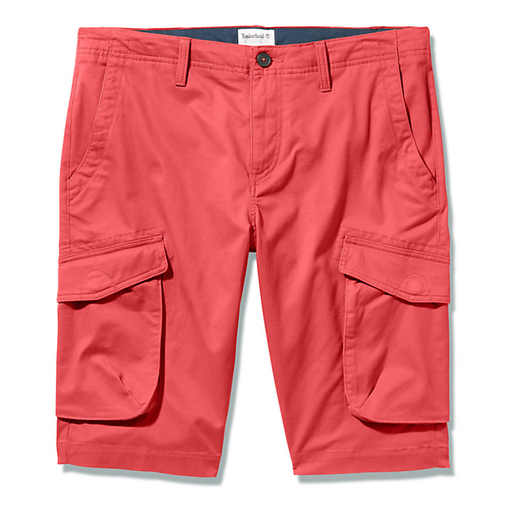 Heritage Cargo Shorts for Men in Red-