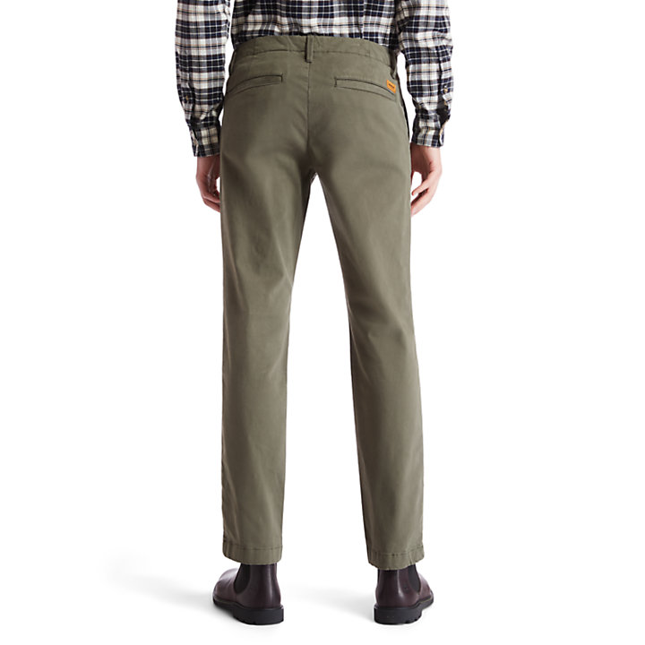 Sargent Lake Ultra Stretch Chinos for Men in Green-