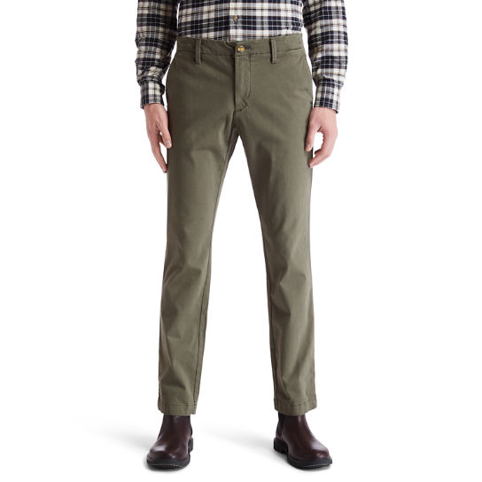Sargent Lake Ultra Stretch Chinos for Men in Green | Timberland