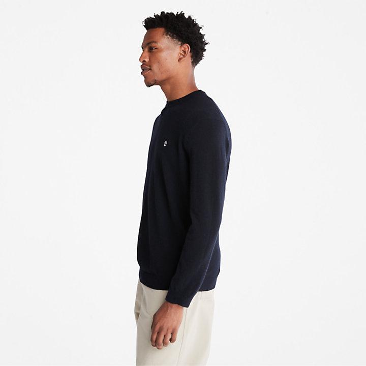 Men's Phillips Brook Wool-Blend Crewneck Sweater in Navy-