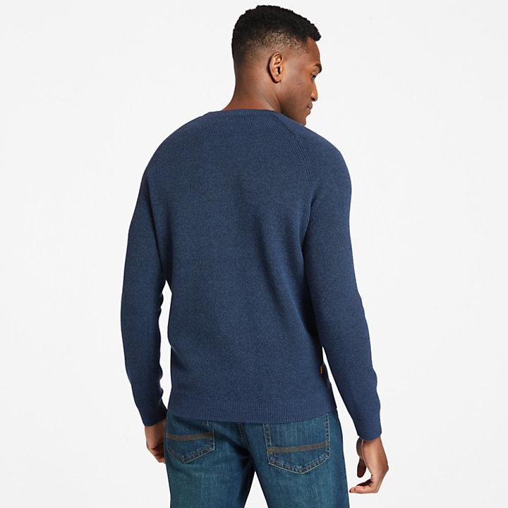 Stocker Brook Organic Cotton Crewneck Sweater voor heren in marineblauw-