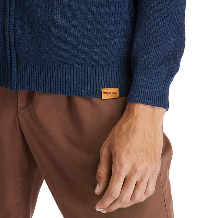 Pull zippé Stocker Brook pour homme en bleu marine-