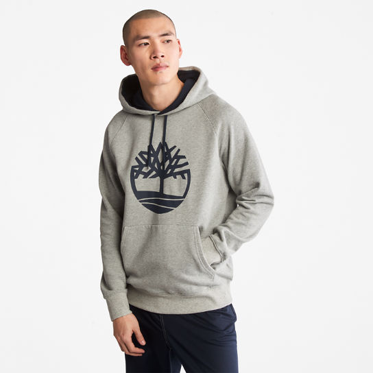 Heritage Logo Hoodie for Men in Grey | Timberland