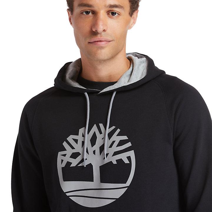 Sudadera con capucha y logotipo Heritage para Hombre en color negro-
