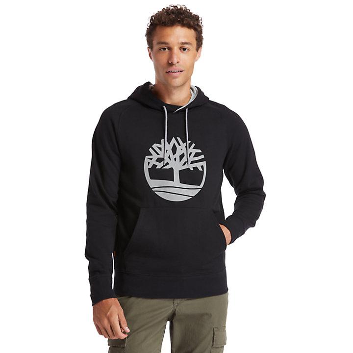 Sweat à capuche avec logo Heritage pour homme en noir-